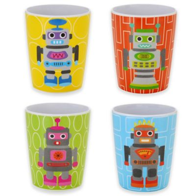 French Bull® Robot Kids Juice Cups (Set of 4)