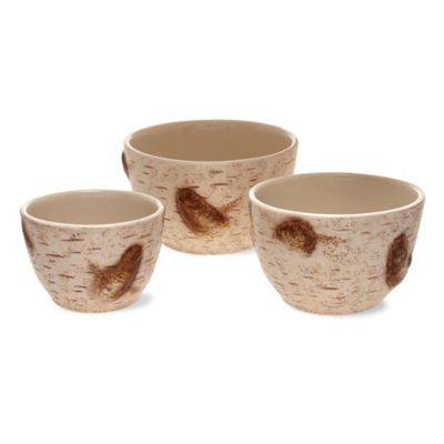 Boston International Birch 3-Piece Prep Bowl Set
