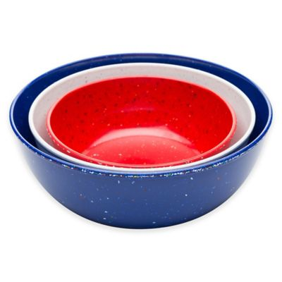 Zak! Designs® Confetti 3-Piece Serving Bowl Set in Multi