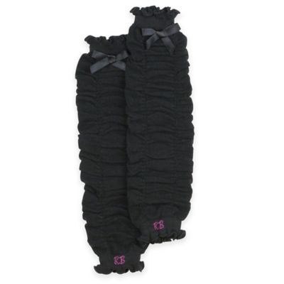 Ruffle Butts® 1 Size Gathered Leg Warmer in Black