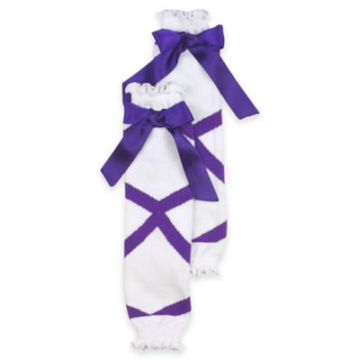 Ruffle Butts® Size 0-6M Ballet Bow Leg Warmer in Purple
