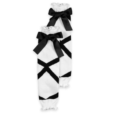 Ruffle Butts® Size 0-6M Ballet Bow Legwarmer in Black