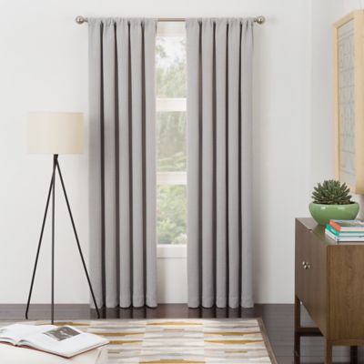 Metropolitan Rod Pocket 84-Inch Window Curtain Panel Pair in Ecru