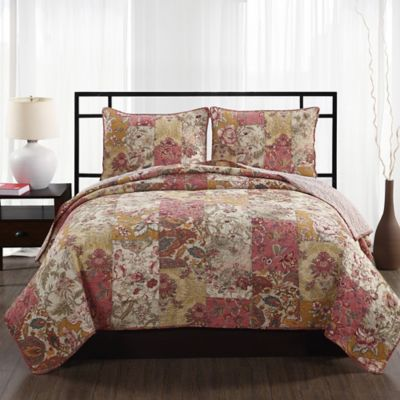 Walden Patchwork Floral Full/Queen Quilt Set