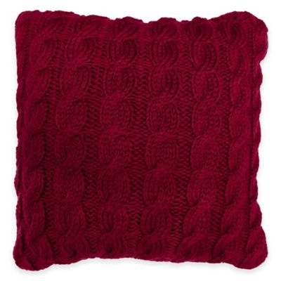 Park B. Smith® Classic Cable Square Throw Pillow in Cinnabar