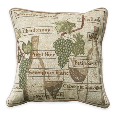 Park B. Smith® Fruit of the Vine Tapestry Square Throw Pillow