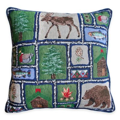 Park B. Smith® Lodge Sampler Tapestry Square Throw Pillow
