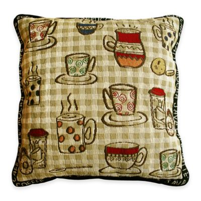 Park B. Smith® Rustic Café Tapestry Square Throw Pillow