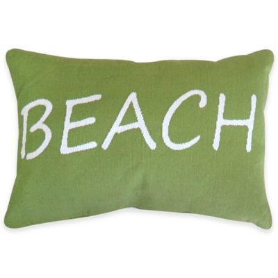 Park B. Smith® Beach Tapestry Oblong Throw Pillow in Seafoam