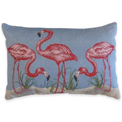 Park B. Smith Flamingo Tapestry Oblong Throw Pillow