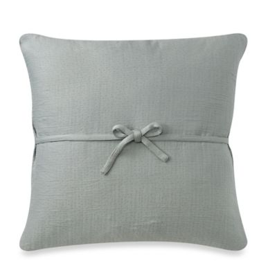 DKNYpure Pure Indulge Matelassé Square Throw Pillow in Sea Glass