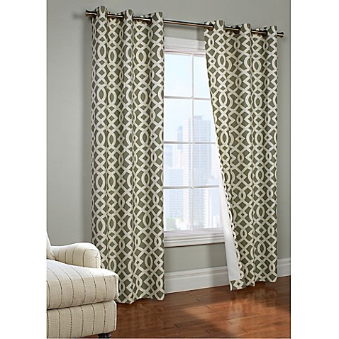 Trellis Room Darkening Grommet Top Window Curtain Panel