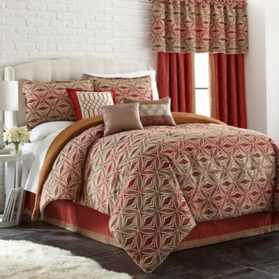 Ecliptic 7-Piece Queen Comforter Set in Gold