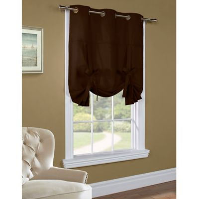 Commonwealth Home Fashions 63-Inch Room-Darkening Grommet Top Window Curtain Panel in Chocolate