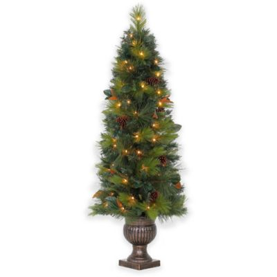 5-Foot Magnolia Pre-Lit Potted Tree