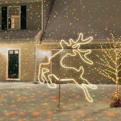 52-Inch Neon Flex Jumping Reindeer Sculpture