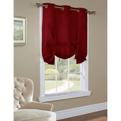 Commonwealth Home Fashions 63-Inch Room-Darkening Grommet Top Window Curtain Panel in Burgundy