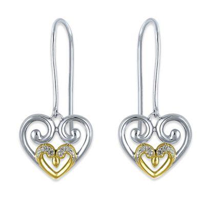 silver18k Heart Earrings