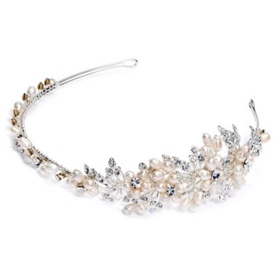 Bella Pearl Floral Headband Bridal Accessories