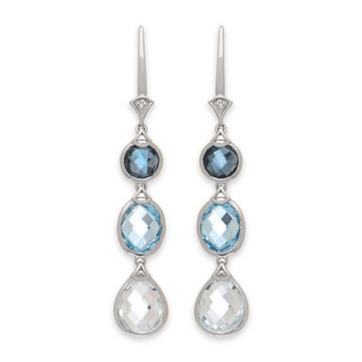 Badgley Mischka Blue Drop Earrings