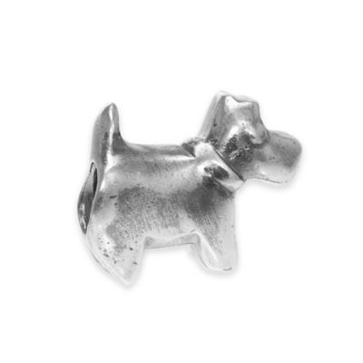 Personality Sterling Silver Scottie Dog Slider Bead