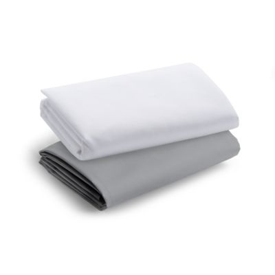 Graco Travel Lite 2-Pack Crib Sheets in Grey/White