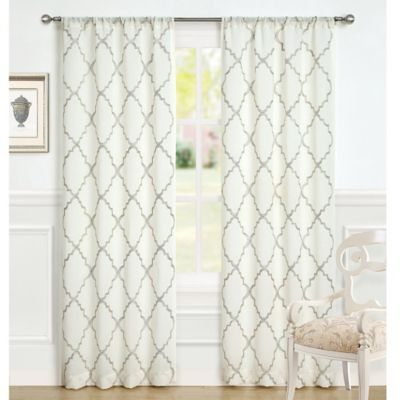 Laura Ashley® Windsor 96-Inch Window Curtain Panel Pair in Ivory