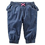 OshKosh B'gosh® Size 9M Chambray Pant with Ruffle in Denim Blue