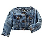 OshKosh B'Gosh® Size 12M Cropped Washed Denim Shirt