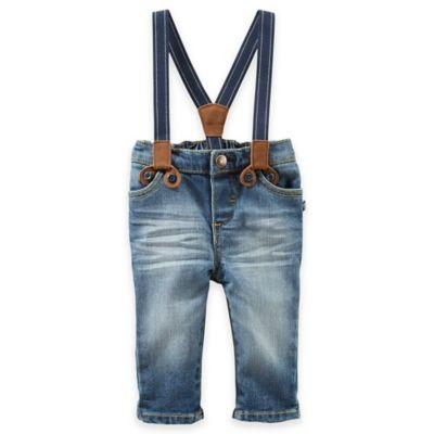 OshKosh B'gosh® Size 3M 2-Piece Jeans and Suspenders Set in Blue
