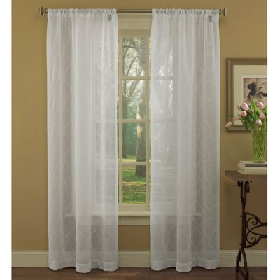 Laura Ashley® Audrey 84-Inch Window Curtain Panel Pair in White