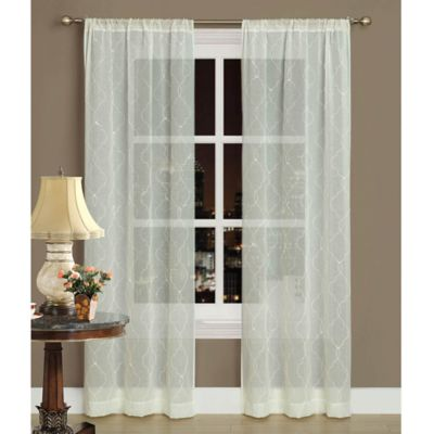 Laura Ashley® Audrey 84-Inch Window Curtain Panel Pair in Ivory