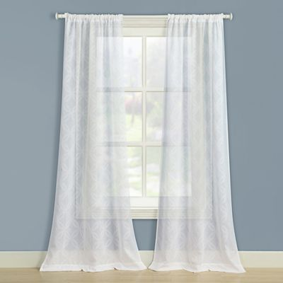 Laura Ashley® Chancery 84-Inch Window Curtain Panel Pair in White