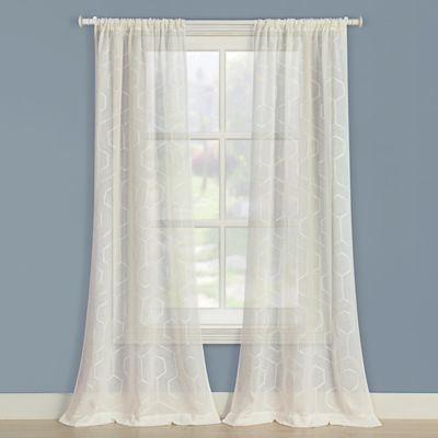 Laura Ashley® Linton 84-Inch Window Curtain Panel Pair in Ivory
