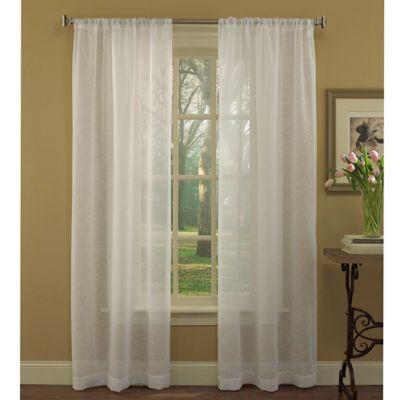 Laura Ashley® Diane 96-Inch Window Curtain Panel Pair in White