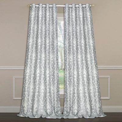 Laura Ashley® Florence 84-Inch Double-Wide Window Curtain Panel Pair in Grey