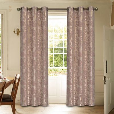 Laura Ashley® Duchess 84-Inch Window Curtain Panel Pair in Mauve