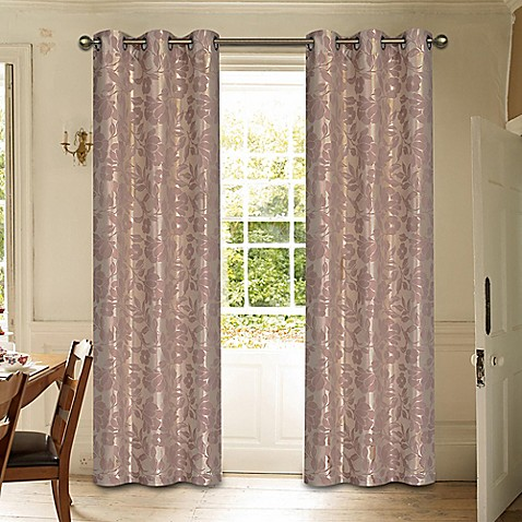laura ashley duchess window curtain panel pair bed bath. Black Bedroom Furniture Sets. Home Design Ideas