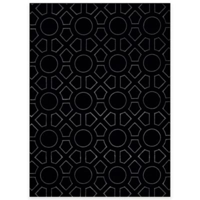 Black Circles Area Rugs