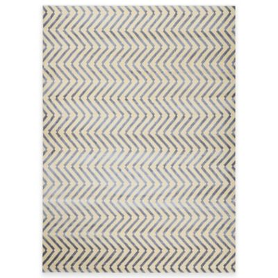 Radiance Chevron 5-Foot 3-Inch x 7-Foot 4-Inch Area Rug in Ivory