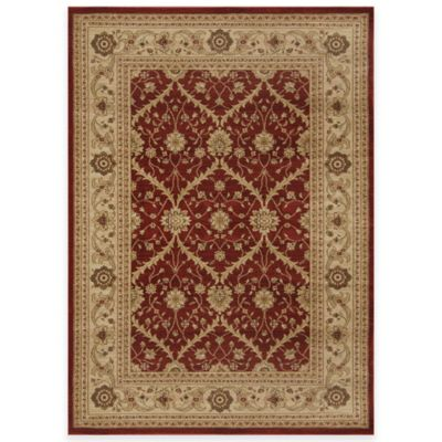 Antique Heat Set 5-Foot 2-Inch x 7-Foot 2-Inch Area Rug in Red/Brown