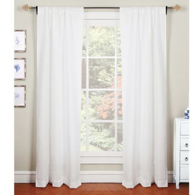 Laura Ashley® Darlington 84-Inch Window Curtain Panel Pair in White
