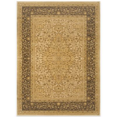 Antique Heat Set 7-Foot 8-Inch x 10-Foot 2-Inch Area Rug in Weathered Gold