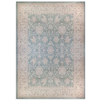 Antiqua 2 Heat Set 5-Foot 2-Inch x 7-Foot 2-Inch Area Rug in Blue