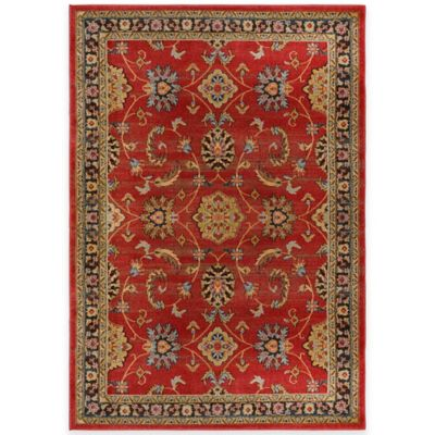 Antique Heat Set 5-Foot 2-Inch x 7-Foot 2-Inch Area Rug in Red/Blue