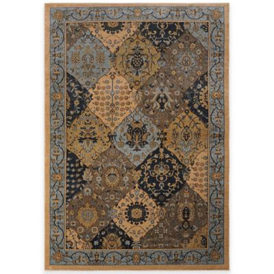Antique Heat Set 5-Foot 2-Inch x 7-Foot 2-Inch Area Rug in Blue