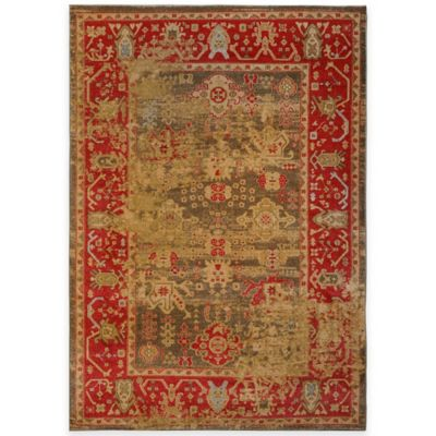 Antiqua Heat Set 5-Foot 2-Inch x 7-Foot 2-Inch Area Rug in Red