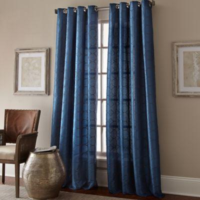 Manhattan 63-Inch Grommet Top Window Curtain Panel in Cobalt