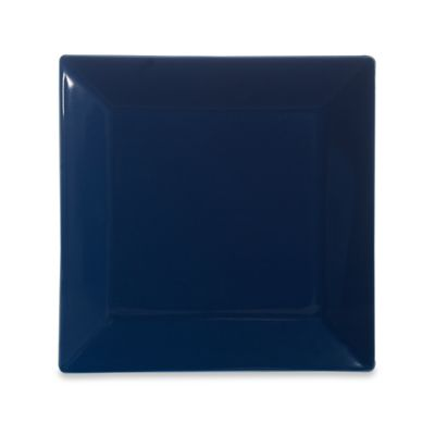 Real Simple® Square Dinner Plate in Marine Blue