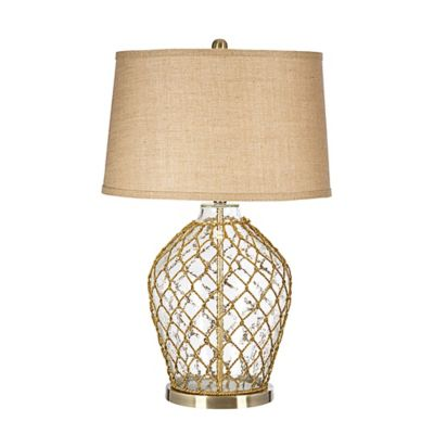"Pacific Coast® Lighting ""Hooked On You"" Table Lamp with Burlap Shade"